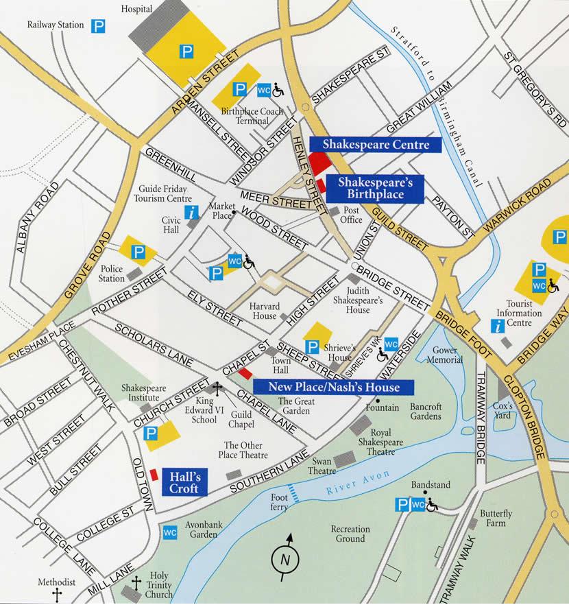 Map of Stratford upon Avon City Map Stratford upon Avon